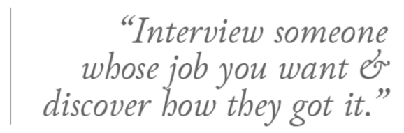 Informational Interview quote